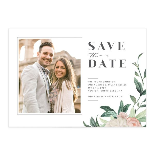 Botanica wedding save the date card front