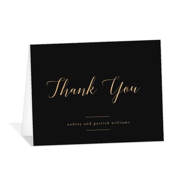 Marble and Gold Thank You card in black catalog image
