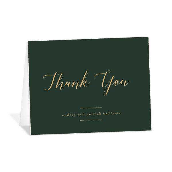 Marble and Gold Thank You card in green catalog image