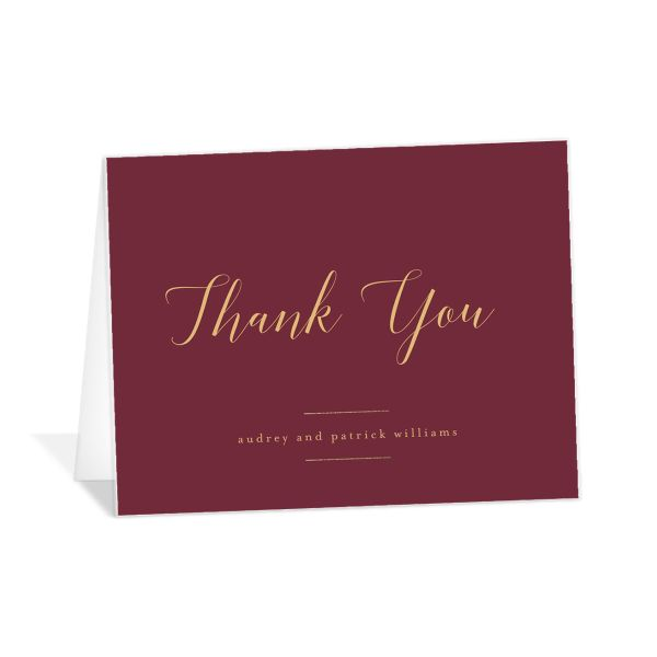 Marble and Gold Thank You card in red catalog image