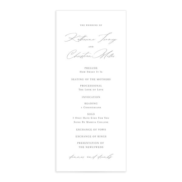 Classic Landscape Wedding Program Front