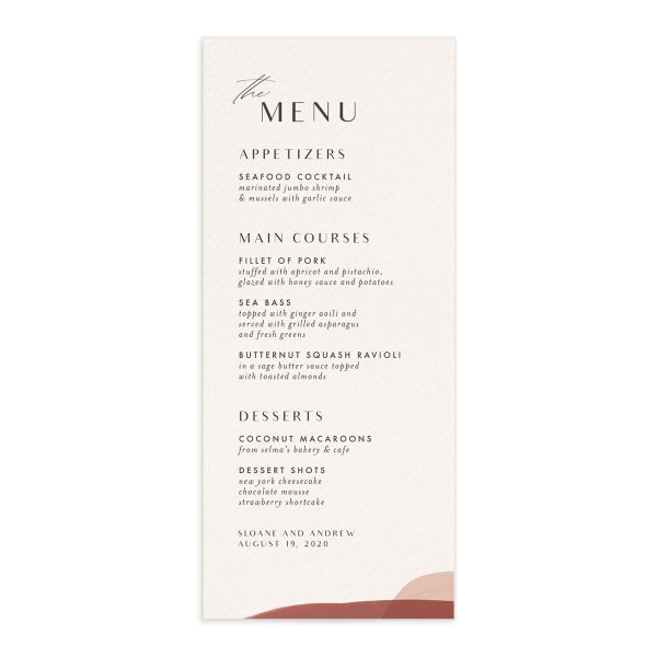 Abstract Watercolor Menu Front in Gold