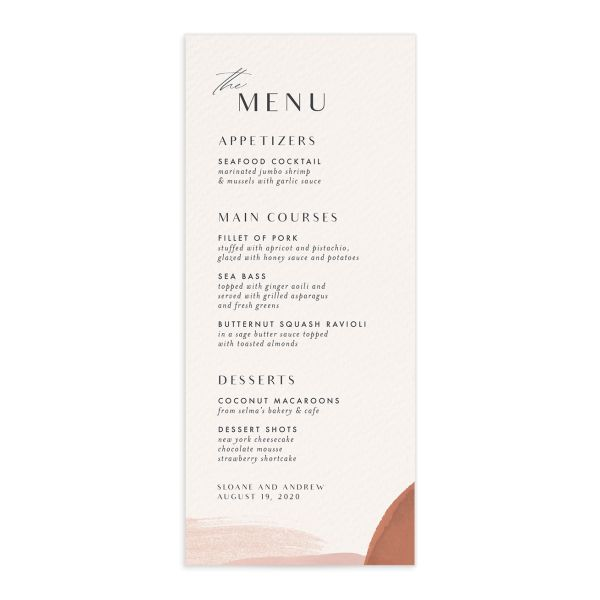 Abstract Watercolor Menu Front in Teal