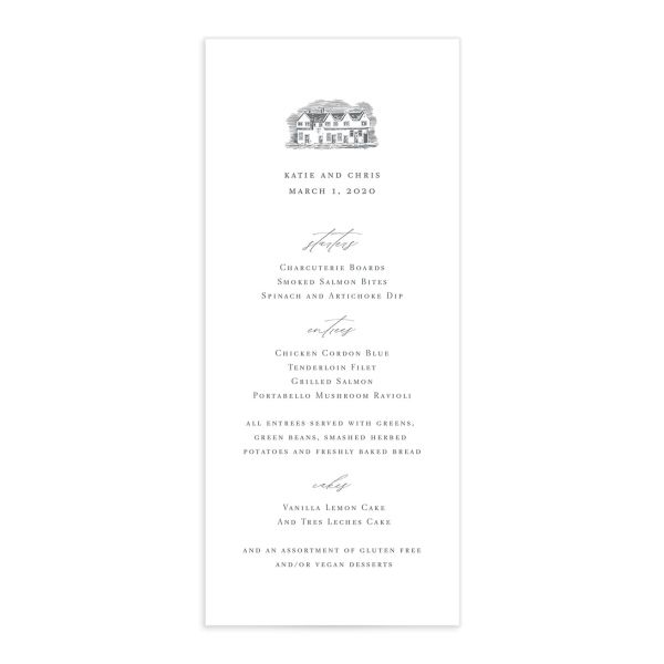 Classic Landscape Wedding Invitation Front with Estate