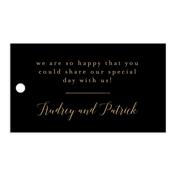 Marble and Gold gift tags in black front catalog image