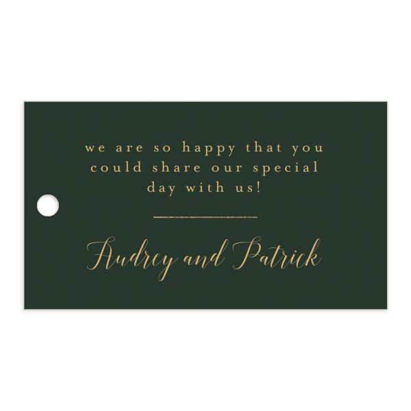 Marble and Gold gift tags in green front catalog image