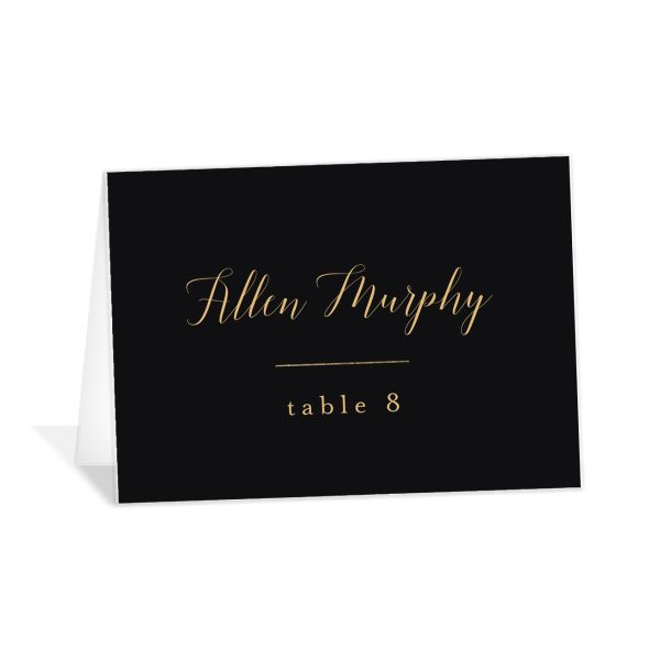 Marble and Gold place cards in black catalog image