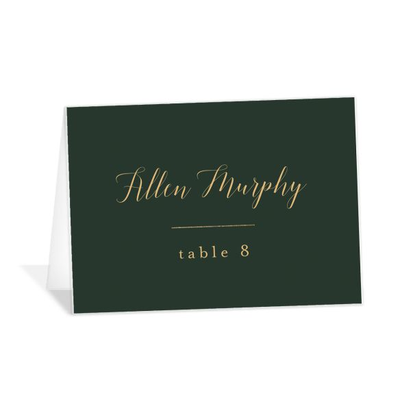 Marble and Gold place cards in green catalog image