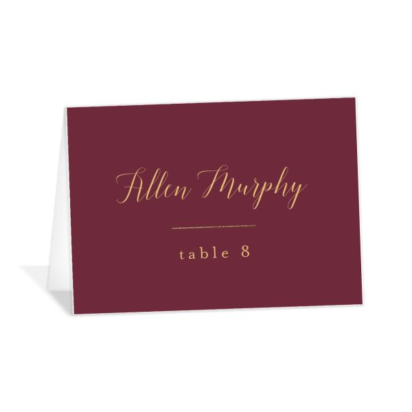Marble and Gold place cards in red catalog image