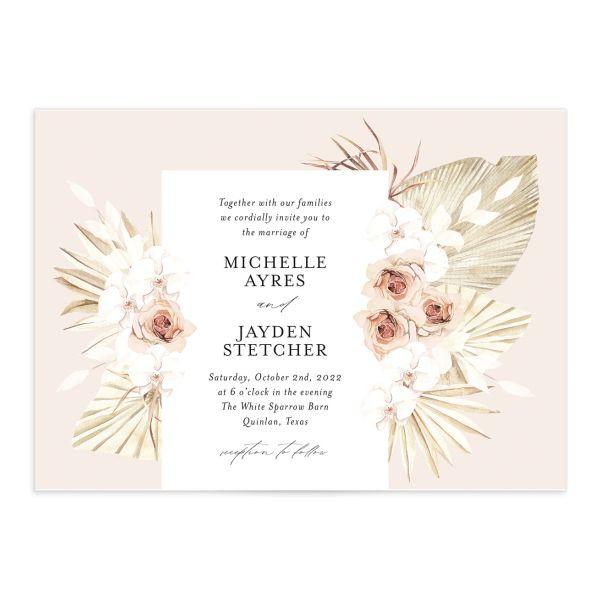 Neutral Bohemian Wedding Invitations