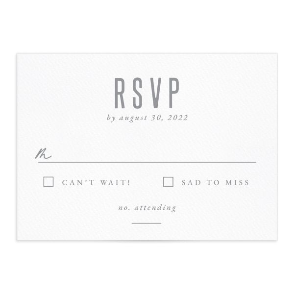 painted mountains wedding response card front