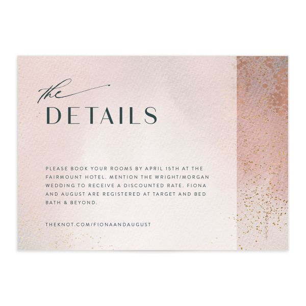 Awash enclosure card front pink