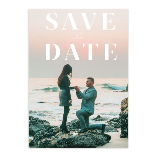 Mod Tropic wedding save the date front
