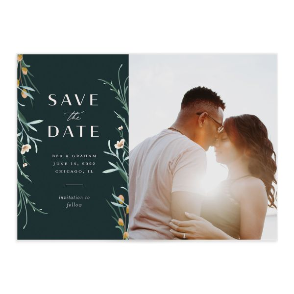 Dark Wreath save the date card front