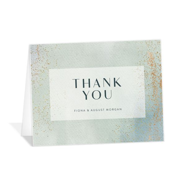 Awash thank you card green