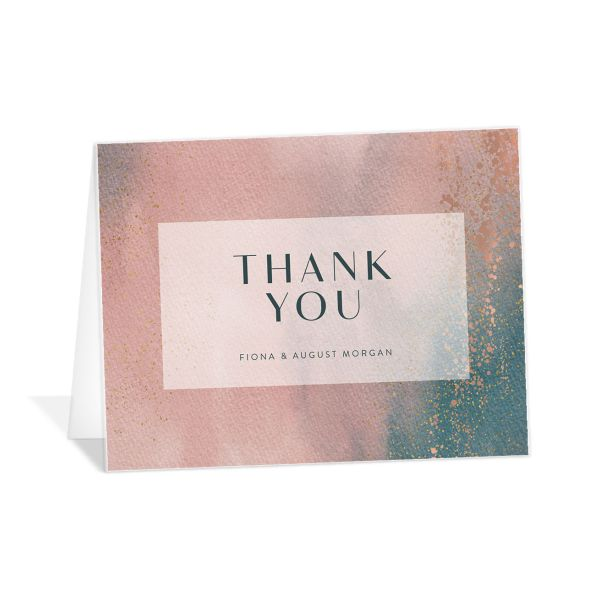 Awash thank you card pink