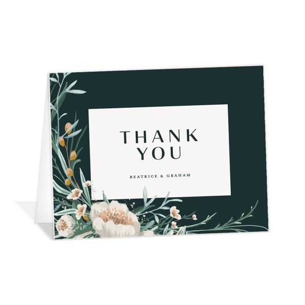 Dark Wreath thank you card