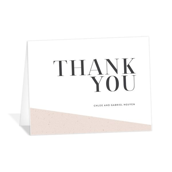 Minimal Chic wedding thank you card catalog image