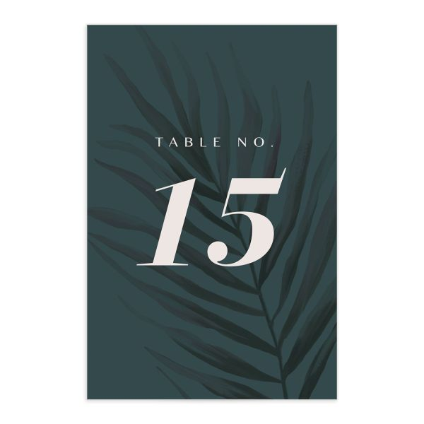 Mod Tropic wedding table number front