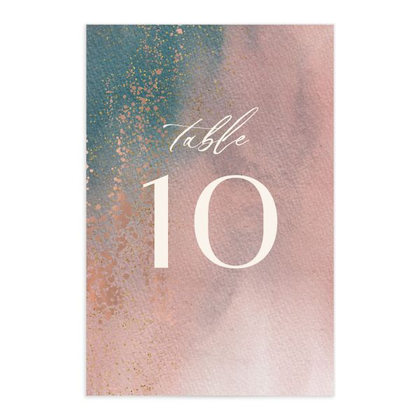 Awash table number front pink