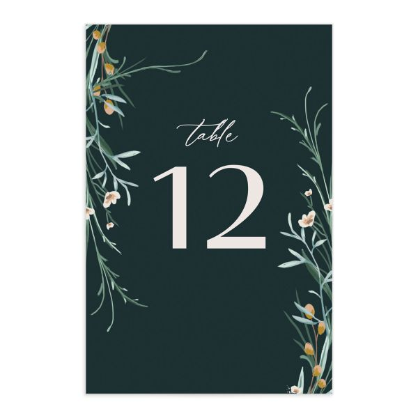 Dark Wreath table number front