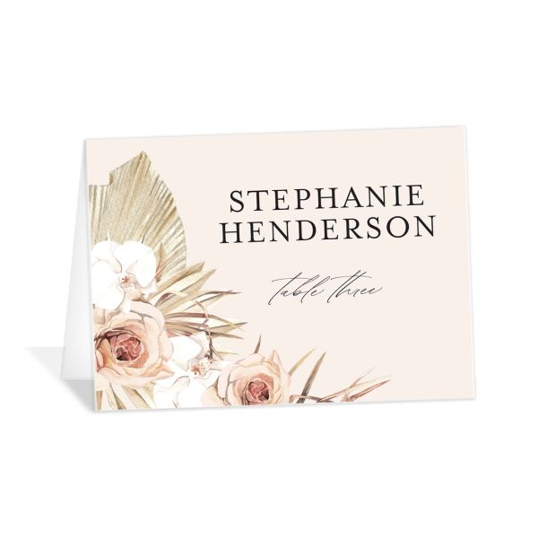 Neutral Bohemian Place card catalog image in pink