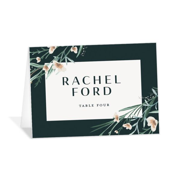 Dark Wreath place card
