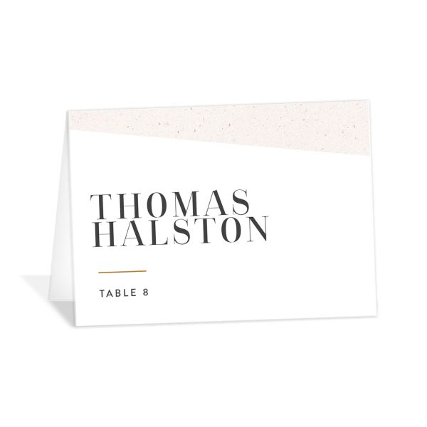 Minimal Chic Wedding Place Cards in white catalog image