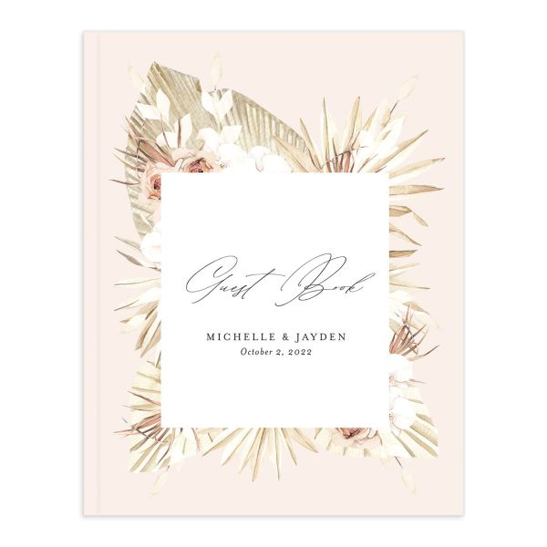 Neutral Bohemian Guest Book catalog image closeup in pink