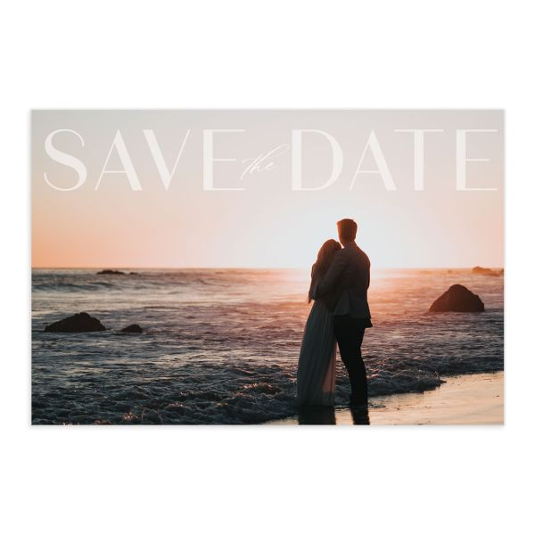 Awash save the date postcard front pink