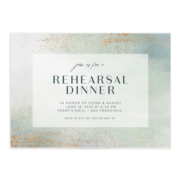 Awash rehearsal dinner front green