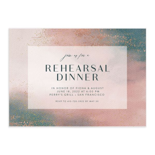 Awash rehearsal dinner front pink
