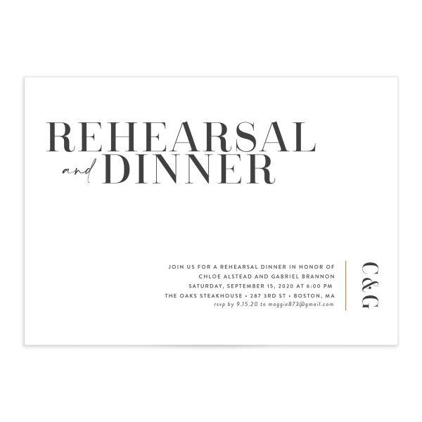 Minimal Chic Rehearsal Invitations