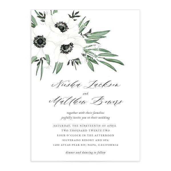 Classic Anemone Wedding Invitations
