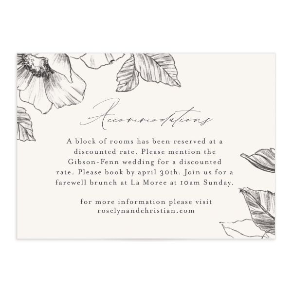 Botanical Floral enclosure card front