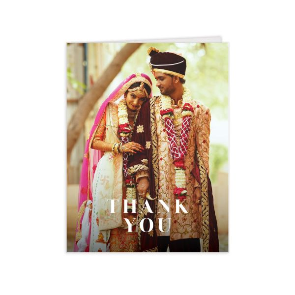 Vibrant Floral thank you card front