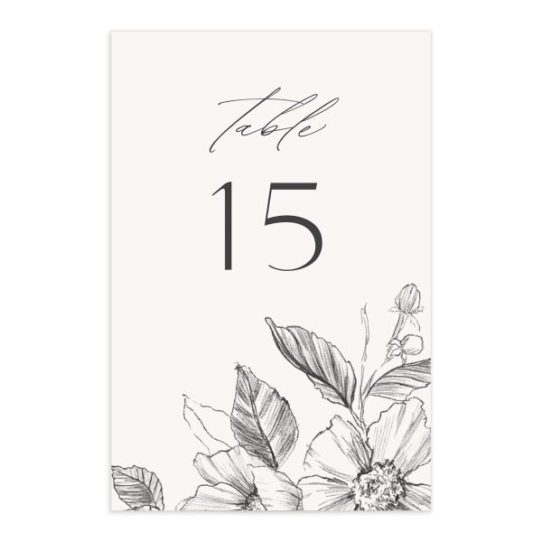 Botanical Floral table number front