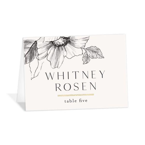 Botanical Floral place card