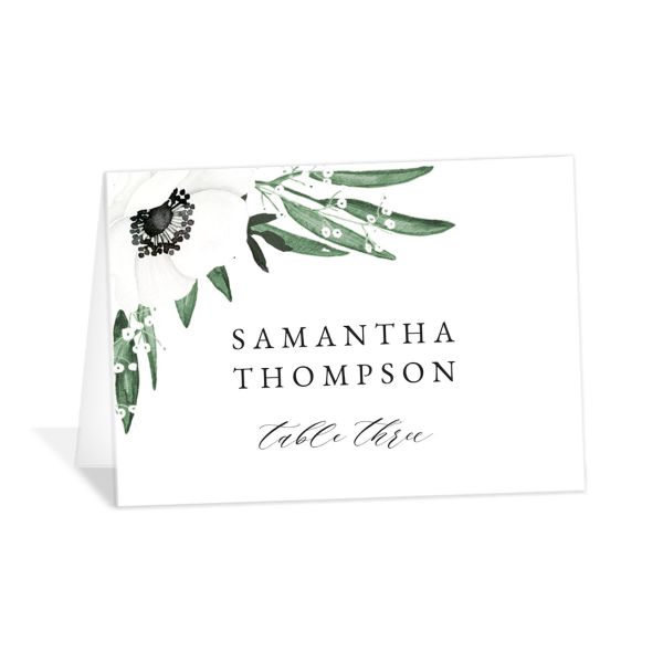 Classic Anemone place card front