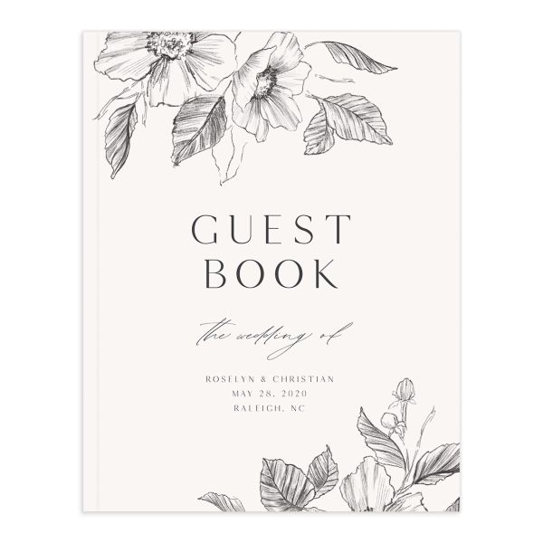 Botanical Floral guest book
