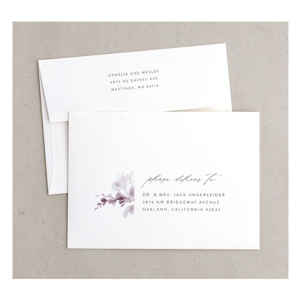 Watercolor Blooms envelope gray