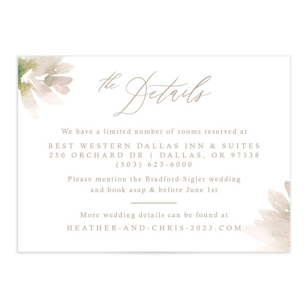 Dusted Calligraphy Wedding Enclosure Card Front Pink