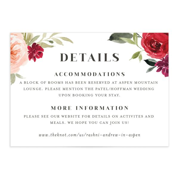 Vibrant Floral wedding enclosure card catalog in orange