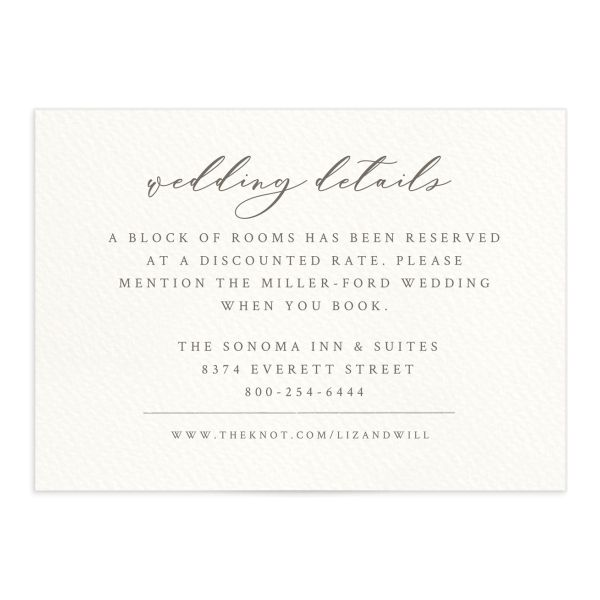 Painted Winery Wedding Enclosure Card Front