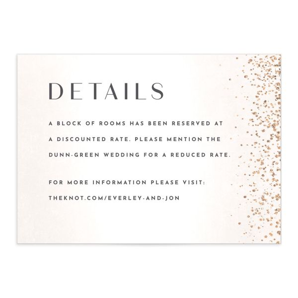 Sparkling Romance Wedding Enclosure Card Blue Cream