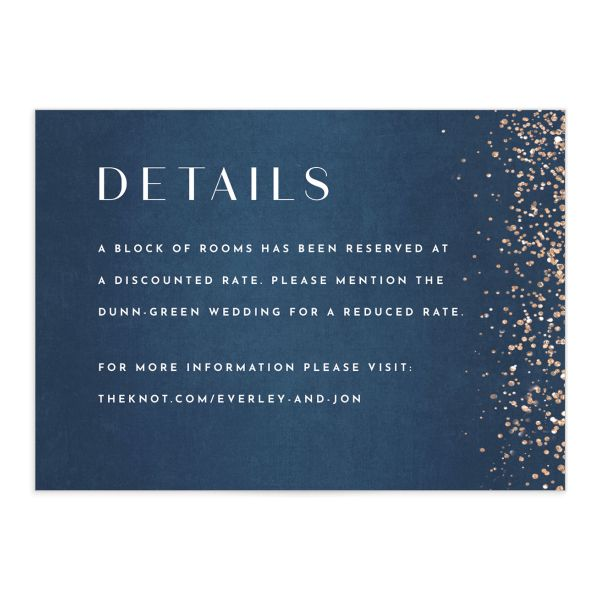 Sparkling Romance Enclosure Card front Blue