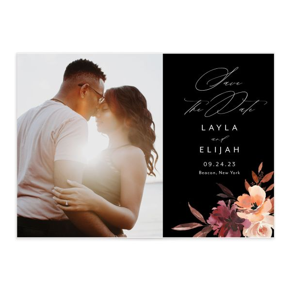 Leafy Floral save the date front