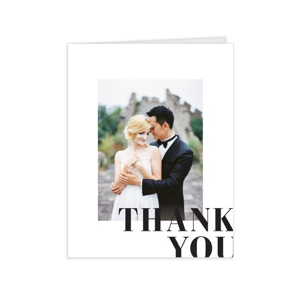 Modern Bodoni thank you card