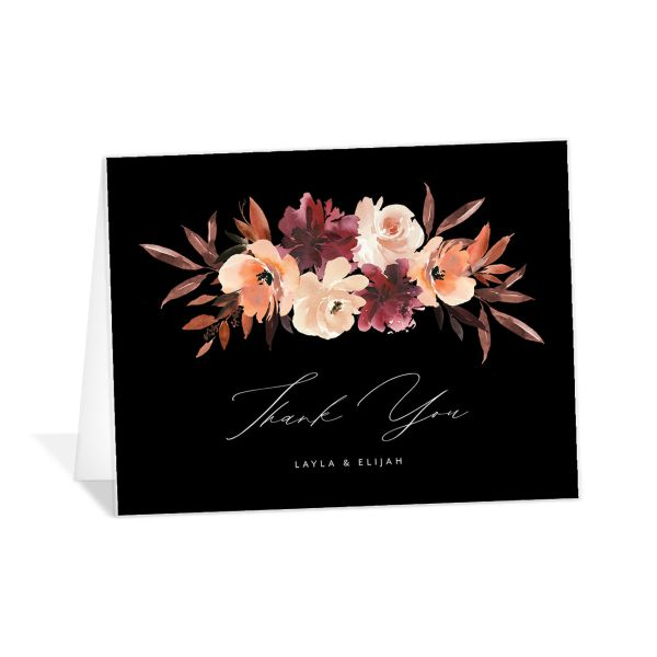 Leafy Floral thank you card