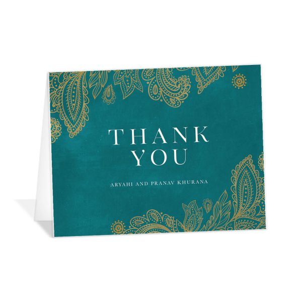 Ornamental Elegance Thank You Card Front White
